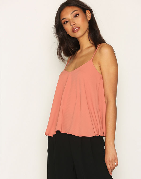 Topshop Rouleau Swing Cami Rust
