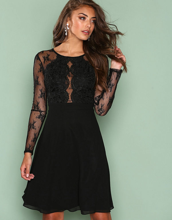 NLY Eve Whenever Lace Dress Svart