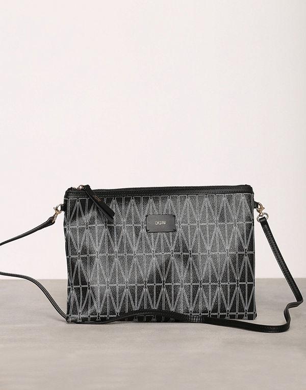 Dagmar svart mönstrad kuvertväska Strap Bag