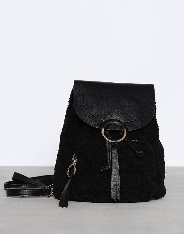 Topshop svart ryggsäck Mini Borg Backpack Black