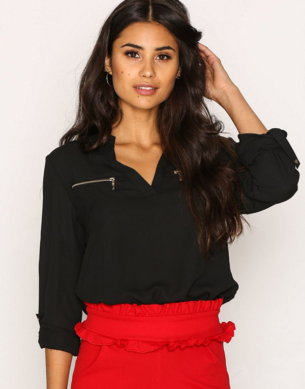 NLY Trend Soft Day Blouse Svart