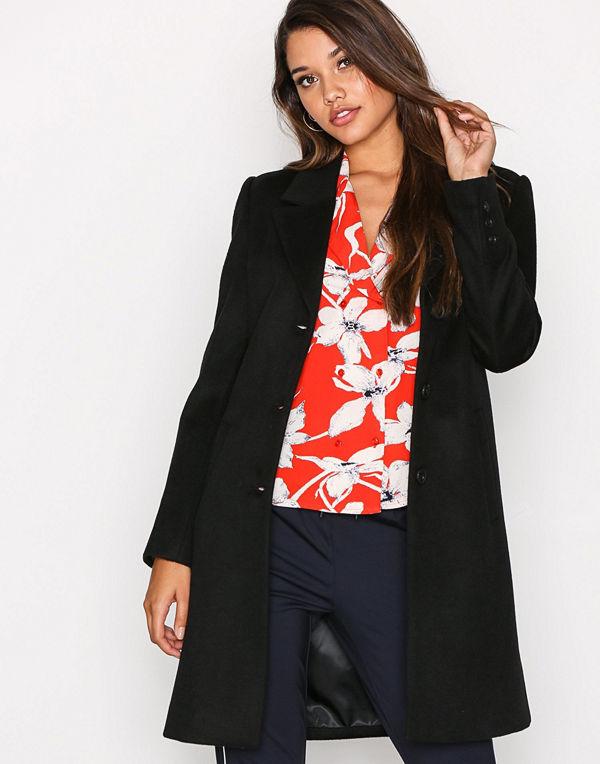 Selected Femme Slfsasja Wool Coat B Svart