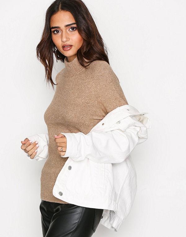 Only onlCELIA L/S Highneck Pullover Knt Brun