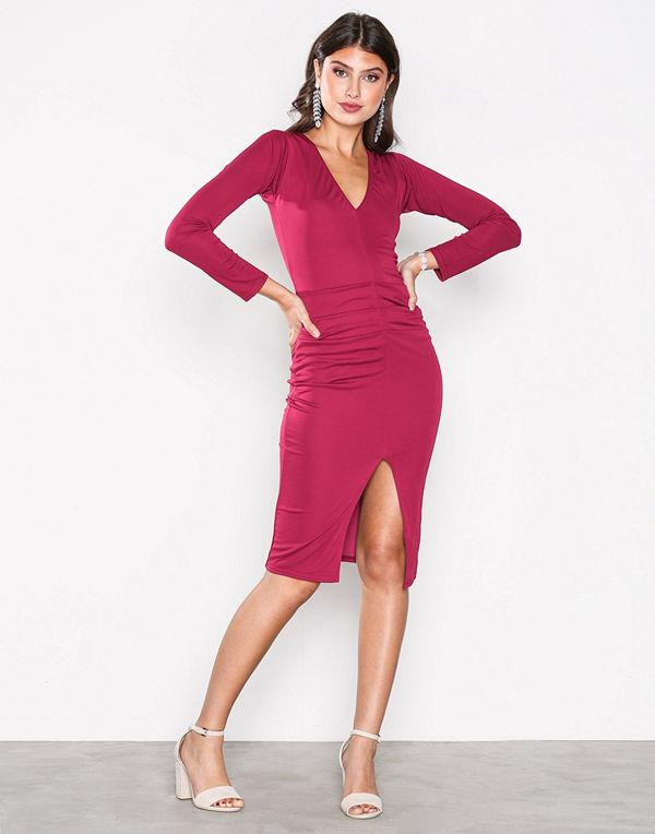 Honor Gold Jessica Midi Dress Berry