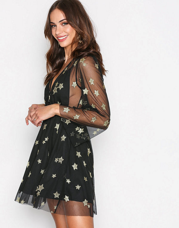 Kiss The Sky Star of The Show Blouse Black