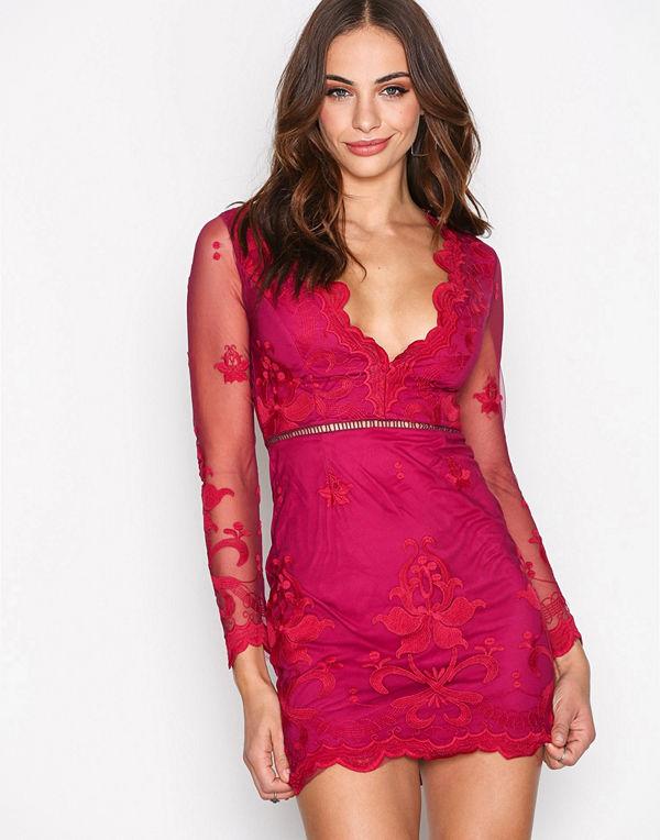 Love Triangle Silent Night Mini Dress Raspberry