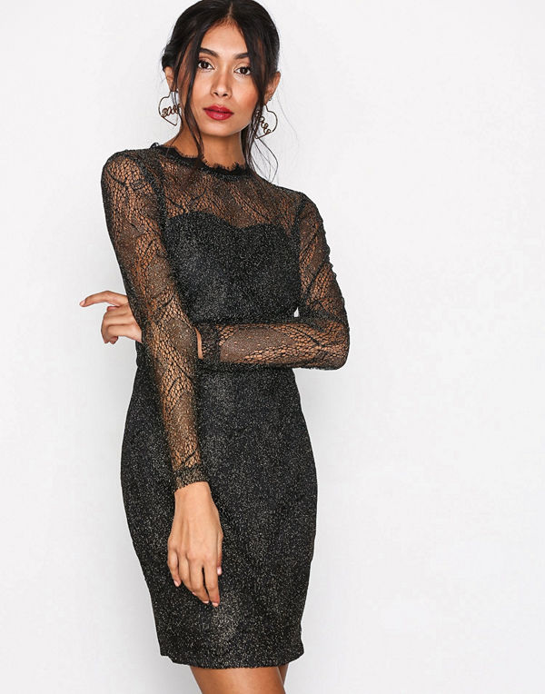 Sisters Point Gentle Dress Black/Gold