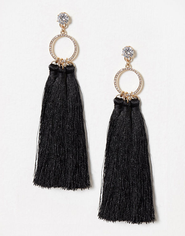River Island örhängen Ring Triple Tassel Drops