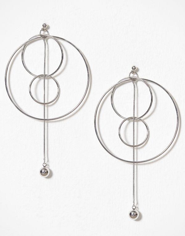 Pieces örhängen Pcfilia Earrings D2D Silver