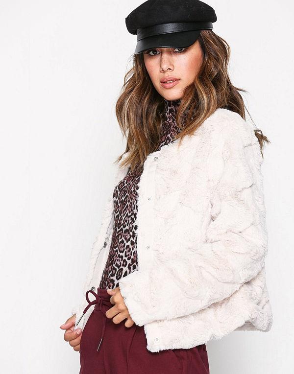Vero Moda Vmcurl Short Fake Fur Jacket Noos Oatmeal
