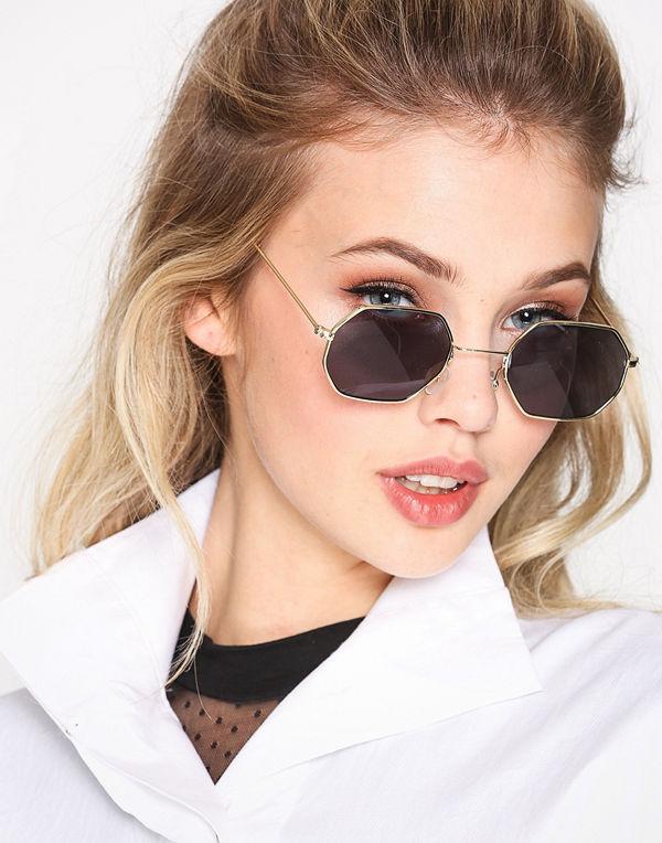 NLY Accessories Octagonal Sunglasses Svart