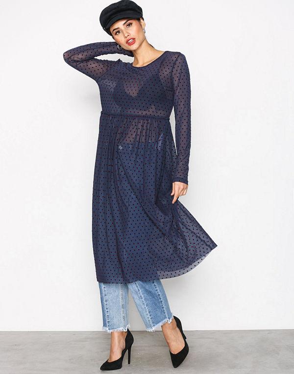 79cce84b895 Vila Viampel L S Dress  Rx Mörk Blå - Klänningar online - Modegallerian