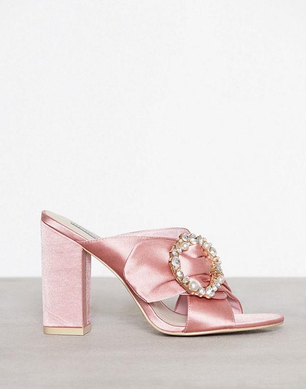 NLY Shoes Satin Embellished Mule Rosa