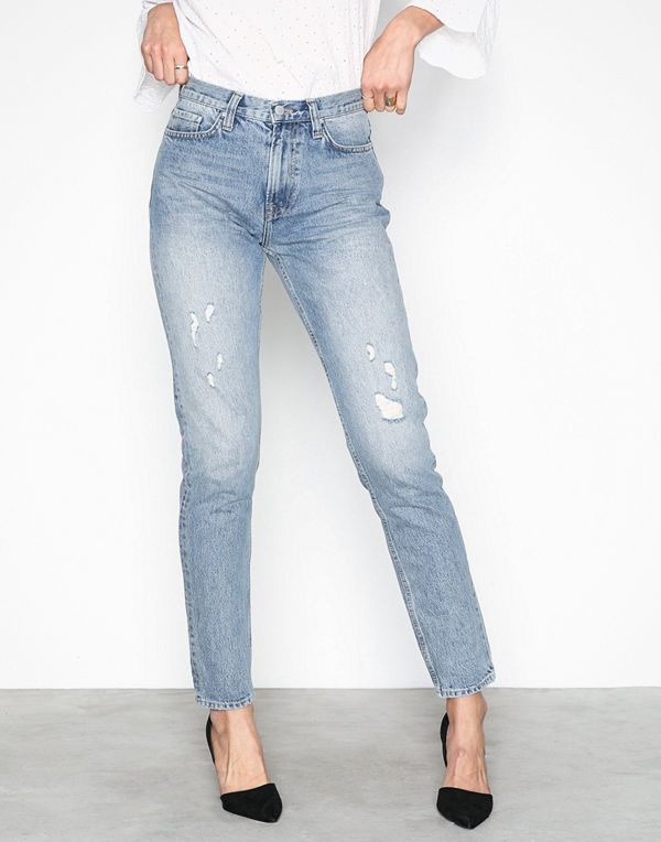 NLY Trend Cheeky Fit Denim Mid Blue