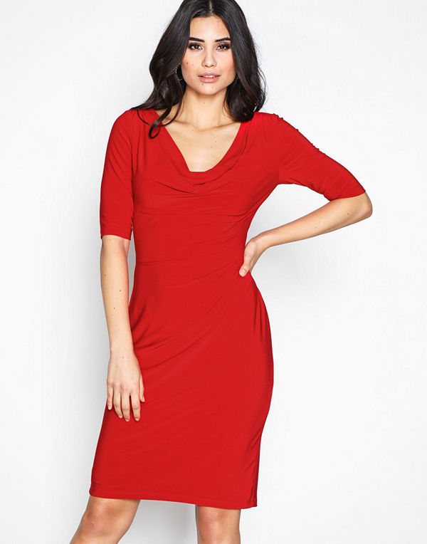 Lauren Ralph Lauren Carleton Dress Red