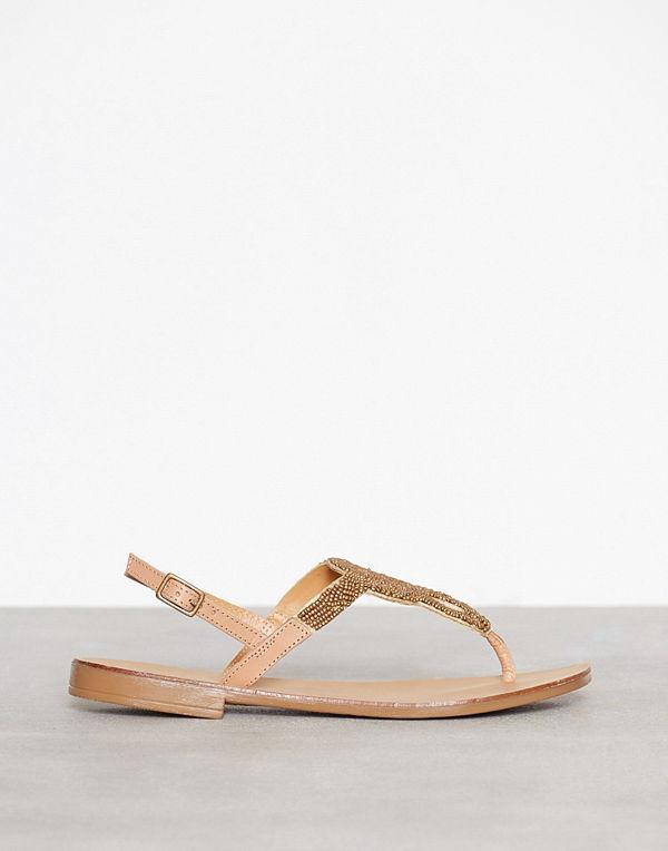b6e491a577e Pieces Pscarmen Leather Sandal Beige - Sandaler   sandaletter online ...