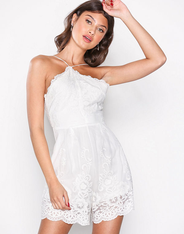 Love Triangle Angel Dust Lace Playsuit