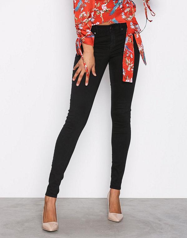 Gina Tricot Skinny low waist superstretch jeans Black