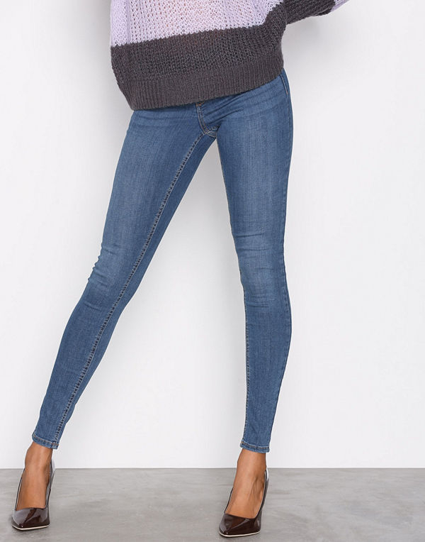 Gina Tricot Skinny low waist superstretch jeans Dark Blue Denim ... 2cee2d635d2ce