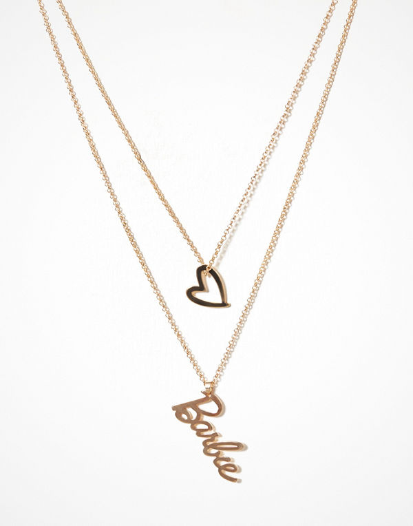 Missguided halsband Long Chain Barbie Necklace Gold