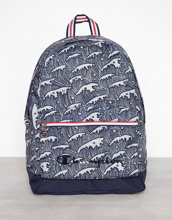 Champion mönstrad ryggsäck Backpack Grey Melange - Ryggsäckar online ... 18cdd7a10f2d1