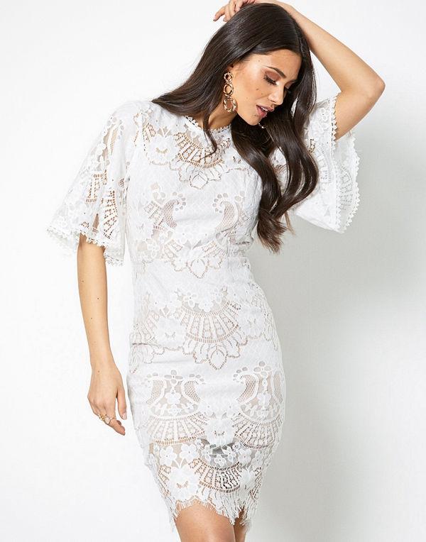 Love Triangle All Over Lace Open Back Mini Dress