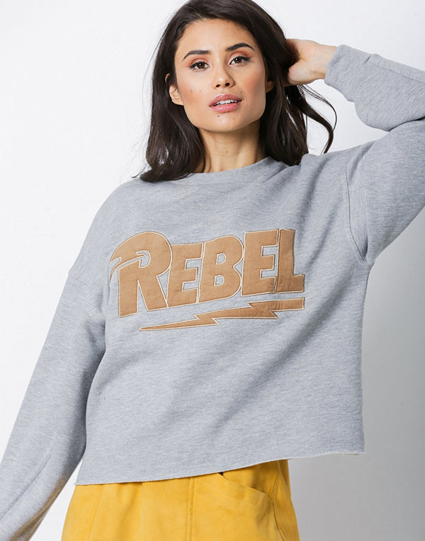 NORR Chili sweat top Grey Brown