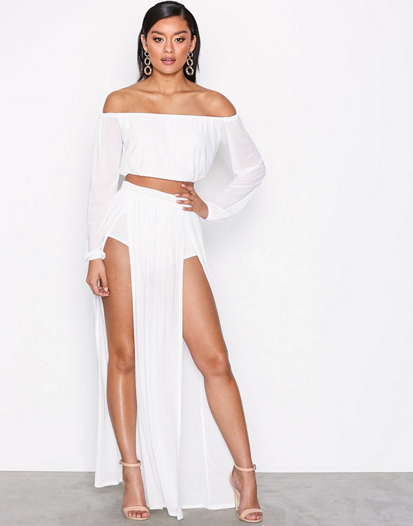 NLY One Mesh Double Split Skirt