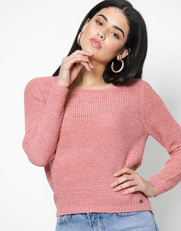 Only onlGEENA Xo L/S Pullover Knt Noos Ljus Rosa
