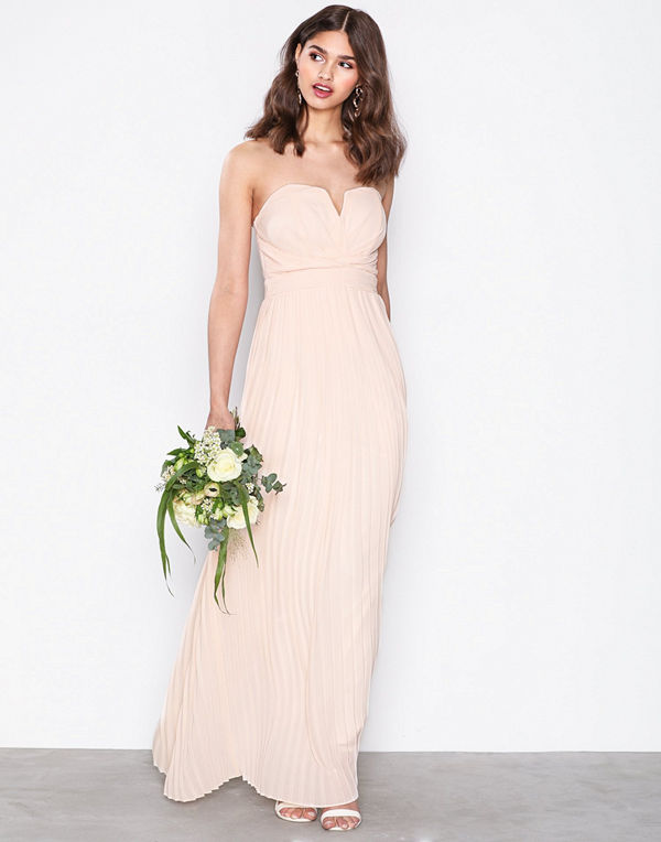 TFNC Flovia Maxi Dress Light Beige