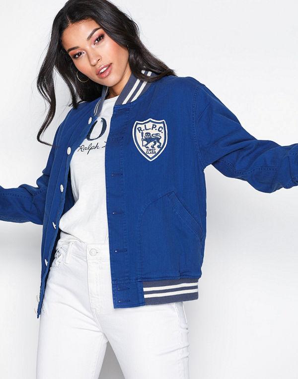 Polo Ralph Lauren bomberjacka med tryck Baseball Jacket Blue
