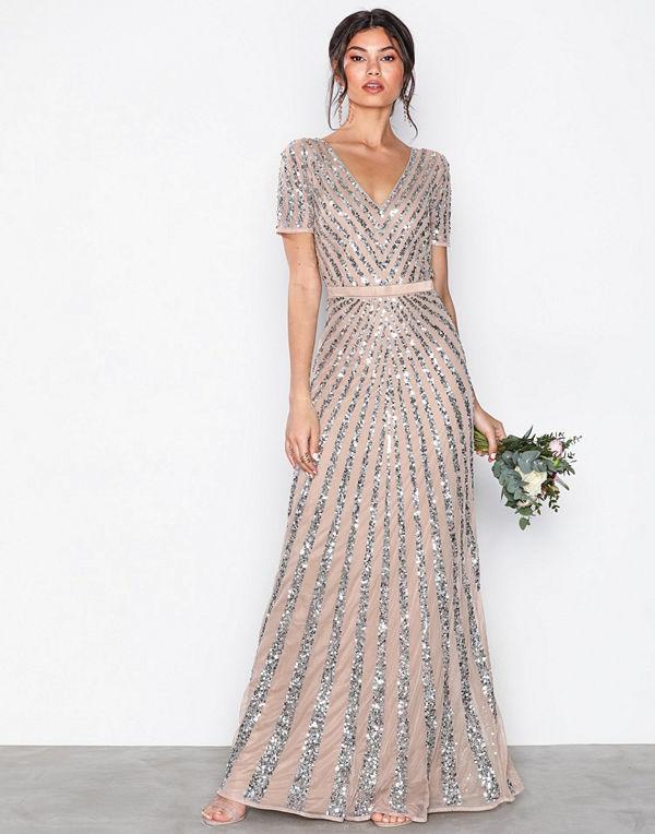 Maya Embellished Short Sleeve Maxi Dress