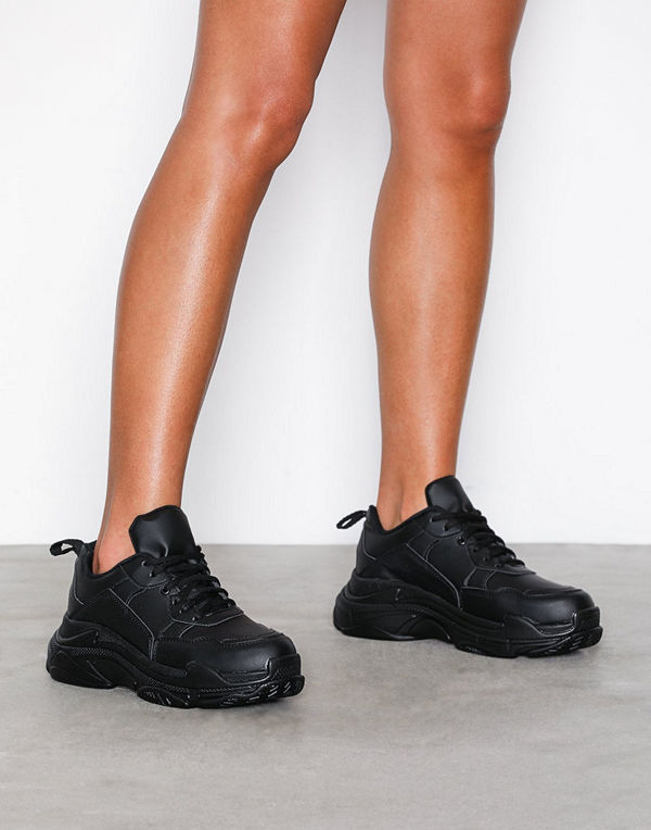 NLY Shoes Perfect Chunky Sneaker Svart