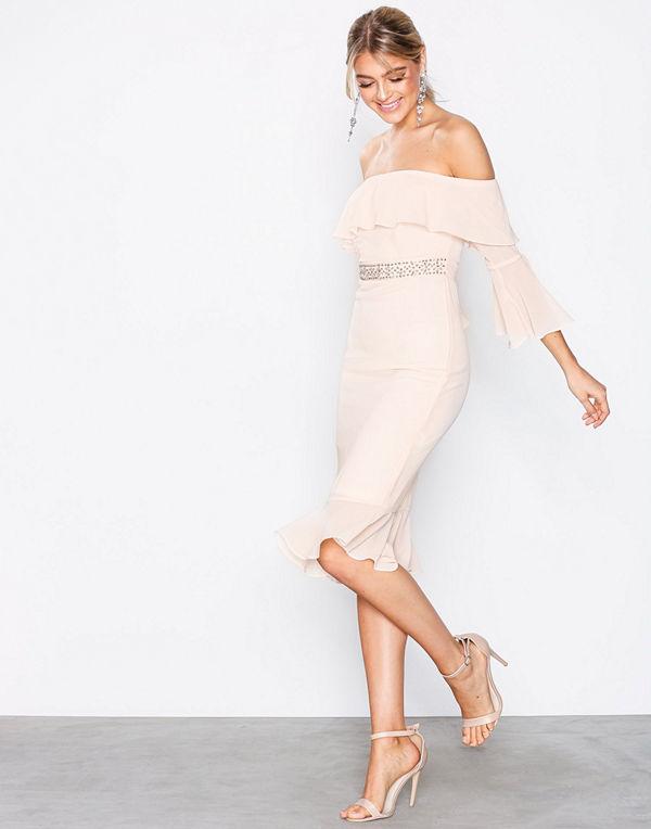 TFNC Fran Midi Dress Beige