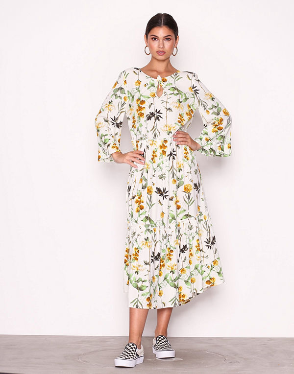 Object Collectors Item Objfloressa 3/4 Boho Dress a Sp Offwhite
