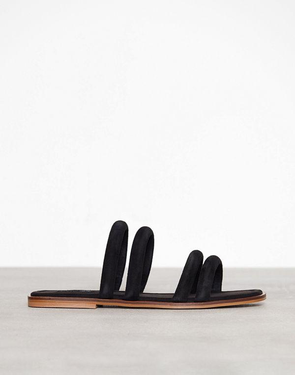 Topshop Fever Strappy Sandals Black