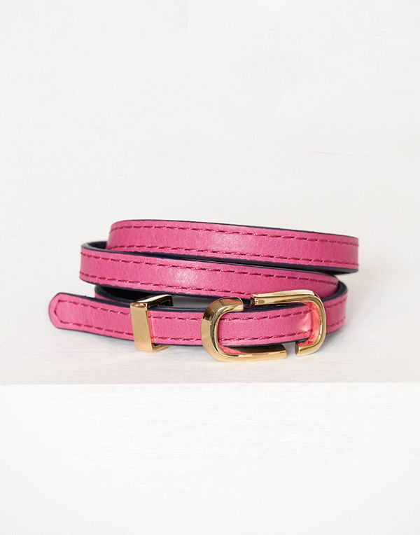 Marc Jacobs rosa armband Double J Triple Wrap