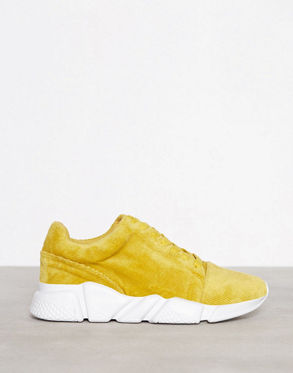 NLY Shoes Corduroy Sneaker Mustard