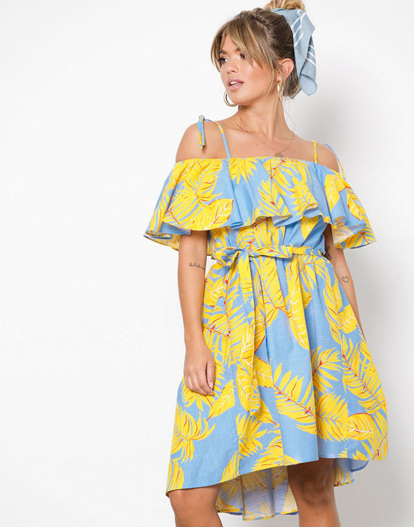 NLY Trend Belted Frill Dress