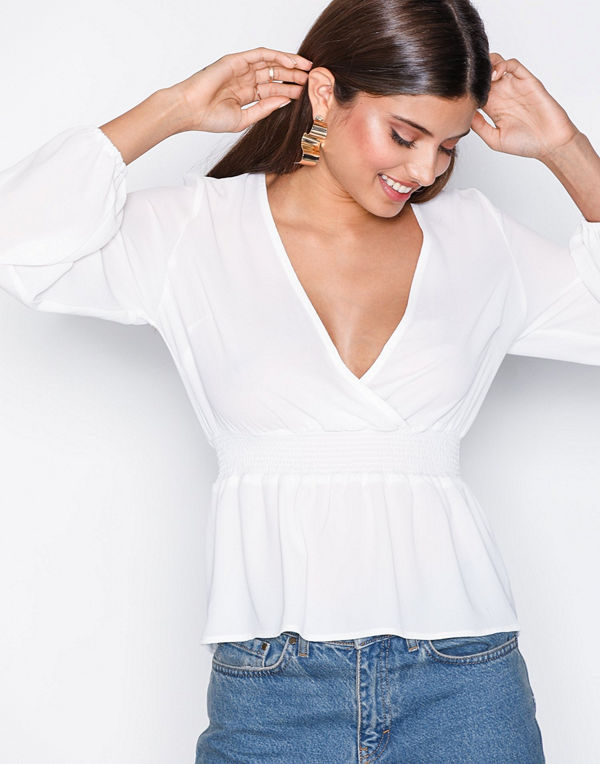 NLY Trend Smock Wrap Blouse