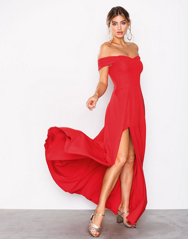 NLY Eve Off Shoulder Flowy Gown