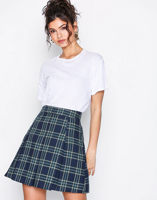 NLY Trend Check Pleated Skirt Rutig