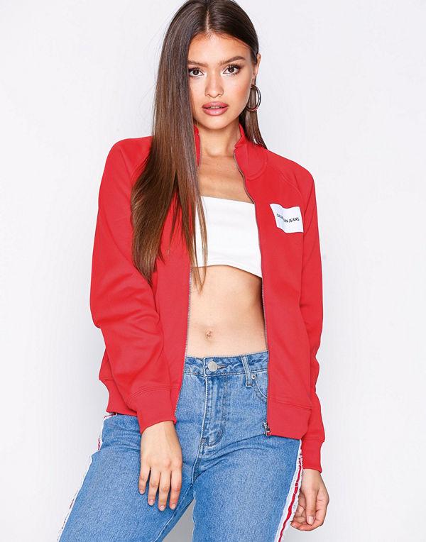 Calvin Klein Jeans röd bomberjacka Zip Up Track Jacket Tomato