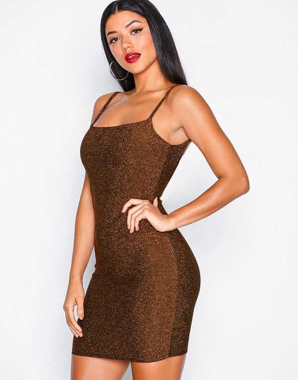 NLY One Glitter Low Back Dress
