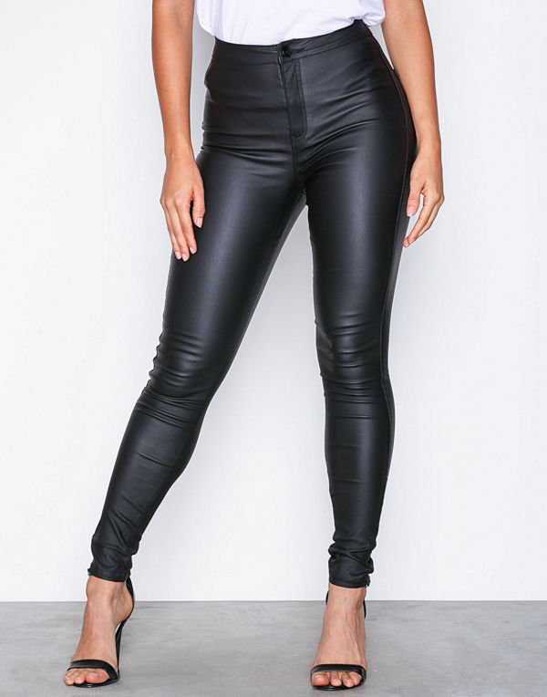 Missguided High Waisted Coated Skinny Jeans