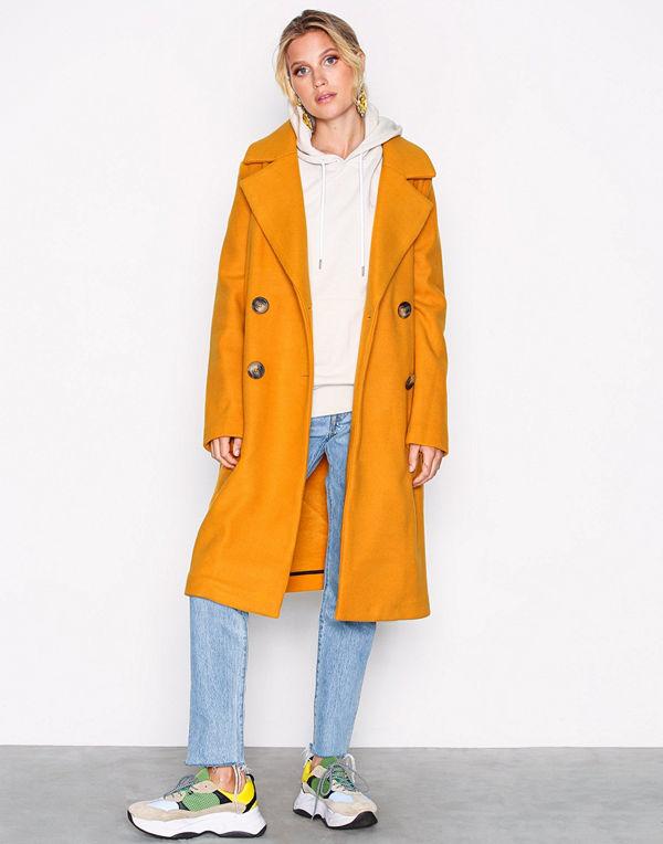 River Island Marigold Coat Yellow