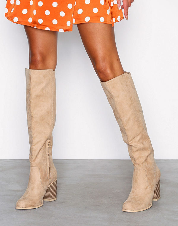 NLY Shoes Block Knee High Boot