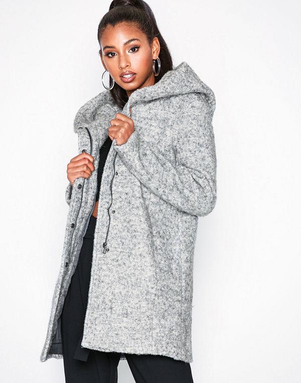 Only onlSEDONA Boucle Wool Coat Otw Ljus Grå