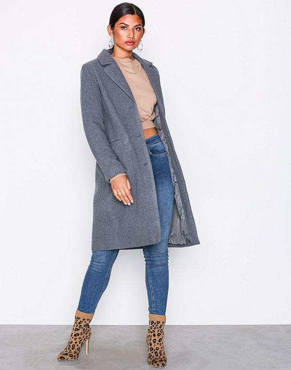 NLY Trend Everyday Coat Grå