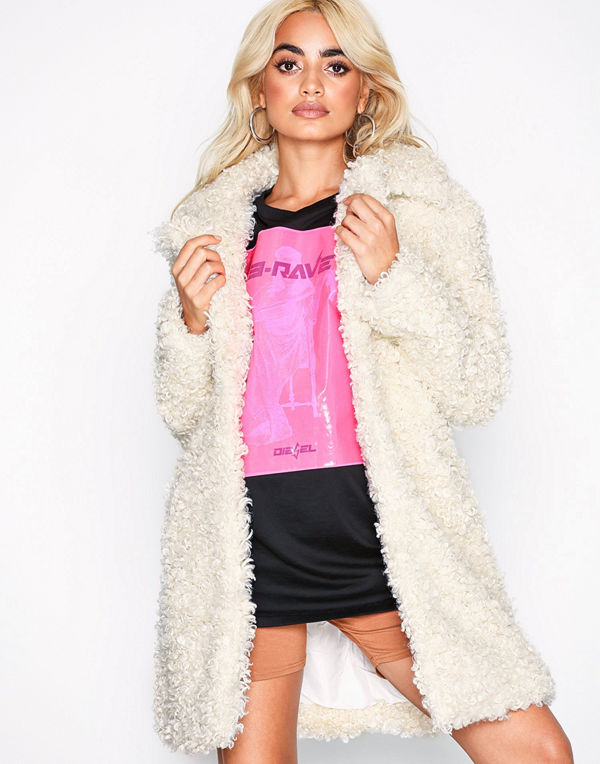 River Island Cookie Monster Curly Coat